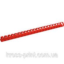 Пружина пластиковая Axent 2919-06-A, 19 мм, красная, 100 штук