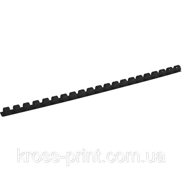 Пружина пластиковая Axent 2910-01-A, 10 мм, черная, 100 штук