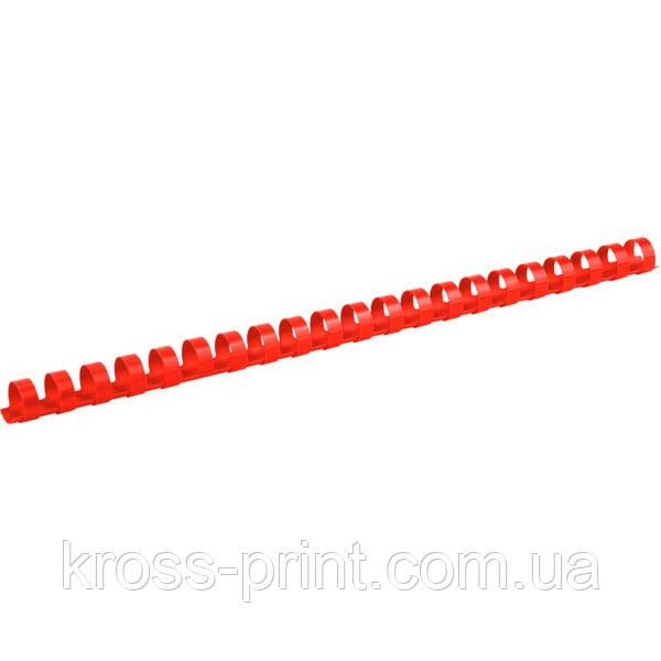 Пружина пластиковая Axent 2914-06-A, 14 мм, красная, 100 штук