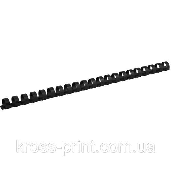 Пружина пластиковая Axent 2914-01-A, 14 мм, черная, 100 штук