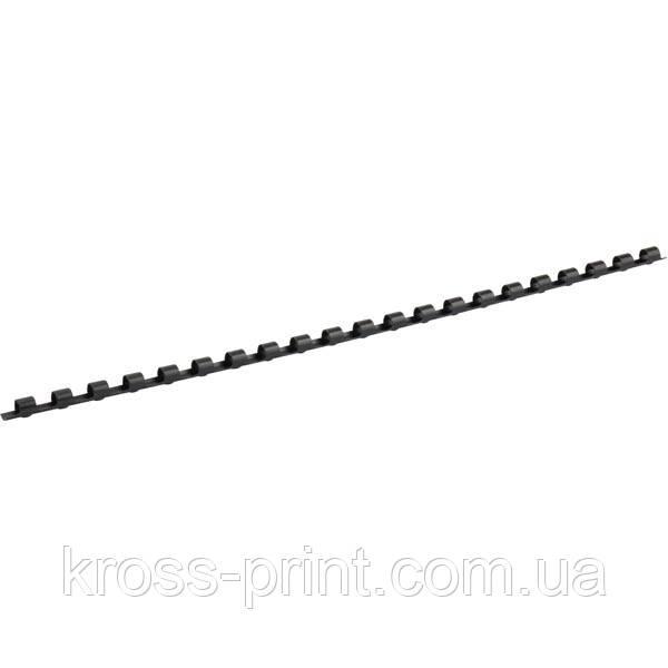 Пружина пластиковая Axent 2906-01-A, 6 мм, черная, 100 штук
