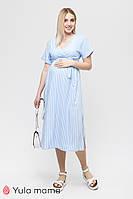 Летнее платье в полоску для беременных и кормящих Gretta DR-21.162 новая коллекция Юла мама