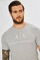 Мужская футболка Armani Exchange, серый армани, фото 1