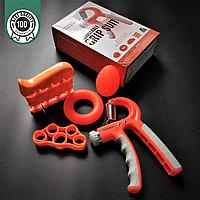 Набір кистьових еспандерів для пальців і рук 5 шт ZELART Максимальне навантаження 60 кг Помаранчевий (FI-2527)