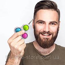 Сенсорна іграшка Simple Dimple поп іт антистрес сімпл дімпл pop it брелок, фото 3