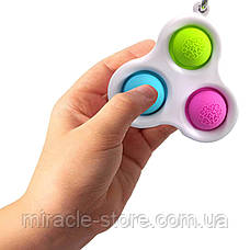 Сенсорна іграшка Simple Dimple поп іт антистрес сімпл дімпл pop it брелок, фото 2
