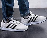 Мужские кроссовки Adidas Белые Сетка, Реплика, фото 1