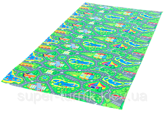 Детский игровой развивающий коврик Verdani Городок 2000×1100×12 мм