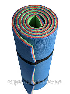 Туристический коврик Verdani Альпинист 1800х600х12 мм сине-красно-зеленый