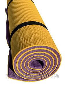 Коврик-каремат для туризма Verdani Альпинист 1800х600х12 мм Желто-фиолетовый