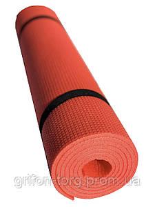 Коврик для занятий фитнесом Verdani Джуниор XL однослойный 1800х600х5 мм красный