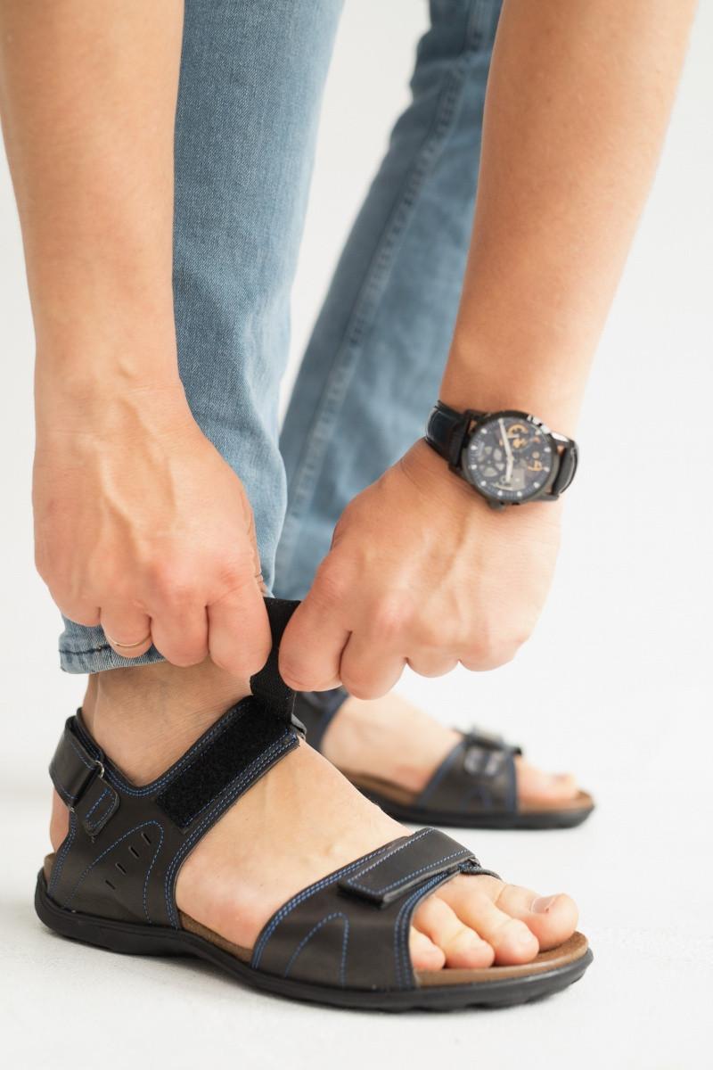 Чоловічі сандалі нубукові літні сині Monster Tracking П-сін