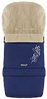 623371 Зимний конверт Babyroom №20 с удлинением темно-синий с узором