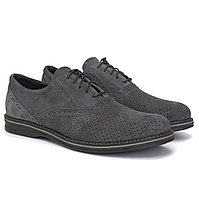Туфли серые летние замшевые с перфорацией мужская обувь больших размеров Rosso Avangard Felicete Grey Perf BS, фото 1