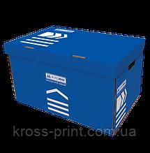 Короб для архивных боксов, 560х380х265 мм, синий