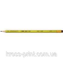 Олівець чорнографітний ORIENTAL HB з гумкою