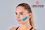 Набор кинезио тейпов для лица 2,5 см × 10 м шелк голубой, фото 3