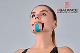Набор кинезио тейпов для лица 2,5 см × 10 м шелк голубой, фото 5