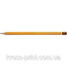 Олівець чорнографітний 2B технічний