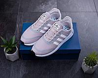 Мужские кроссовки Adidas Серые Сетка, Реплика, фото 1