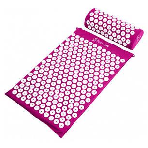 Акупунктурный массажный коврик с подушкой Розовый, фото 2