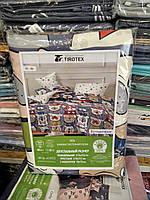 """Комплект постільної білизни євро-максі БУЛЬДОЖКИ (мікс) """"COMFORT"""" недорого від прямого постачальника"""