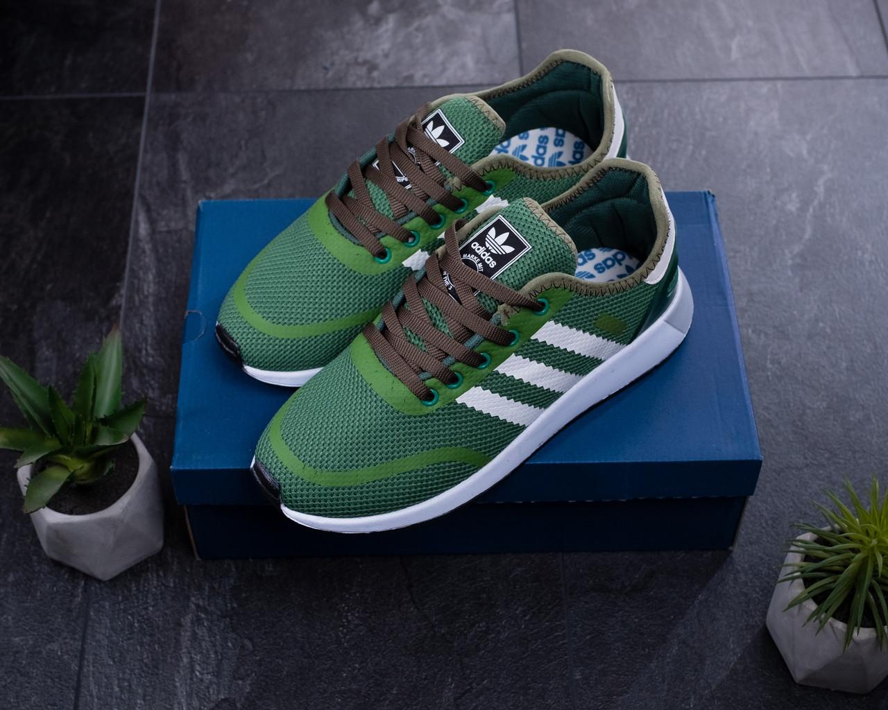 Мужские кроссовки Adidas Зеленые Сетка, Реплика