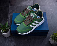 Мужские кроссовки Adidas Зеленые Сетка, Реплика, фото 1