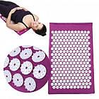 Акупунктурний масажний килимок з подушкою Фіолетовий, фото 3
