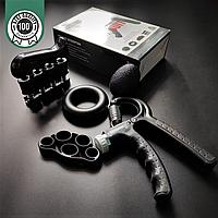 Набор кистевых эспандеров для пальцев и рук 5 шт ZELART Максимальная нагрузка 60 кг Черный (FI-2527)