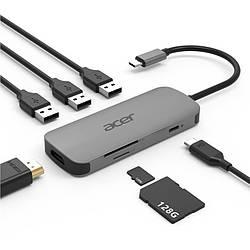 Док-станция Acer 7in1 Type C dongle: 1 x HDMI, 3 x USB3.2, 1 x SD/TF, 1 x PD (HP.DSCAB.008)