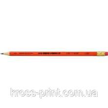 Олівець чорнографітний Astra HB з гумкою