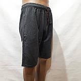 50,52,р. Шорты мужские трикотажные до колена х/б темно-серые, фото 3