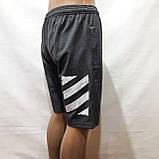 50,52,р. Шорты мужские трикотажные до колена х/б темно-серые, фото 5