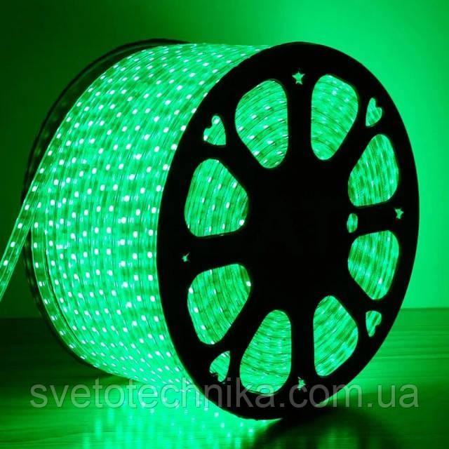 Герметичная светодиодная лента 220V 120 диод/м. зеленый свет