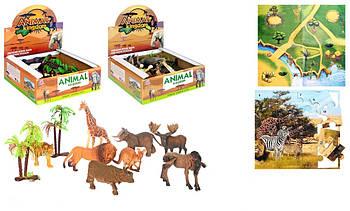 Набор животные (дикие) 8 шт. 137-138