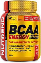 Аминокислоты Nutrend BCAA ENERGY Mega Strong Powder 500 г апельсин