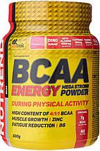 Аминокислоты Nutrend BCAA ENERGY Mega Strong Powder 500 г малина