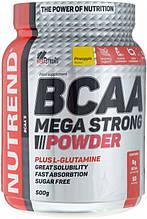 Амінокислота Nutrend BCAA Mega Strong Powder 500 г ананас