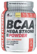 Амінокислота Nutrend BCAA Mega Strong Powder 500 г грейпфрут