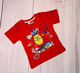 Футболка для мальчика 1, 2, 3 года, красный