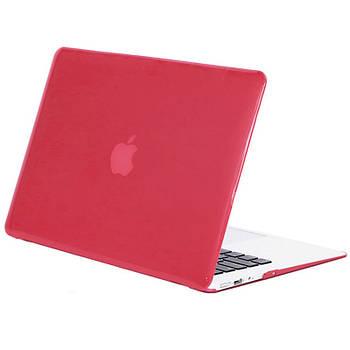 Чехол-накладка Matte Shell для Apple MacBook Pro touch bar 15 (2016/18) (A1707 / A1990) Красный / Wine red