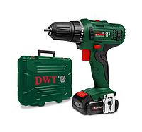 Аккумуляторный шуруповерт DWT (ДВТ) ABS-12 L-2 BMC (гарантия 2 года, кейс, оригинал, 2 аккумулятора)