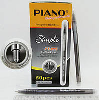 "Ручка PT-1155 Piano ""Simple""шариковая  масляная ЧЕРНАЯ 0,7мм уп50"