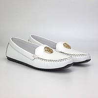 Жіночі мокасини білі шкіра літнє взуття великих розмірів Ornella White Floto by Rosso Avangard BS, фото 1