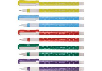 """Ручка кульк. """"CoolForSchool"""" №CF11967 Simple,0,7 мм синя(50)"""