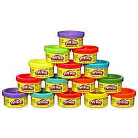 Игровой набор пластилина Play-doh 15 разноцветных баночек общим весом 420 грамм. Оригинал Hasbro