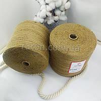 2 кг 1300 м 3 мм в 3 нитки натуральна джутова нитка для в'язання гачком