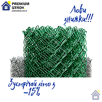 Сітка Рабиця металева зелена 50х50, діаметр 3.5 мм, висота 2.0 м, рулон 10 м, фото 1