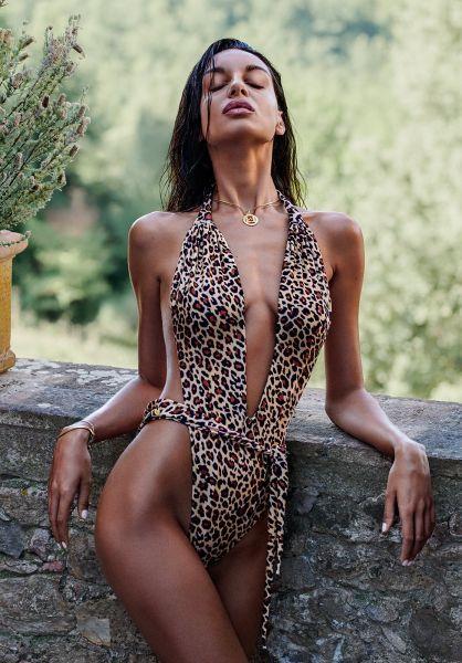 Цільний купальник Obsessive Cancunella леопард O/S